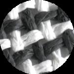 schwarz-weiss-gestreift